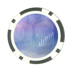 Business Background Blue Corporate Poker Chip Card Guard