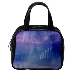Business Background Blue Corporate Classic Handbags (One Side)