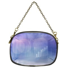 Business Background Blue Corporate Chain Purses (one Side)