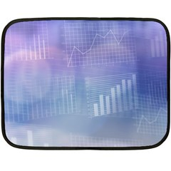 Business Background Blue Corporate Double Sided Fleece Blanket (Mini)