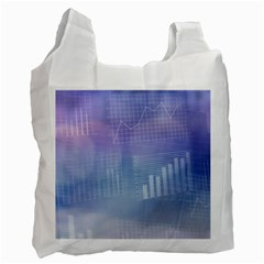 Business Background Blue Corporate Recycle Bag (One Side)