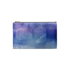 Business Background Blue Corporate Cosmetic Bag (small)