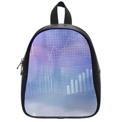 Business Background Blue Corporate School Bags (Small)