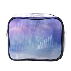 Business Background Blue Corporate Mini Toiletries Bags