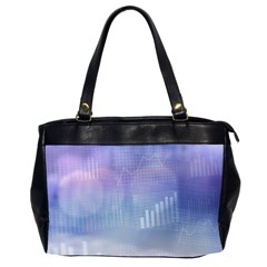 Business Background Blue Corporate Office Handbags (2 Sides)