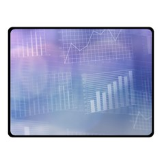 Business Background Blue Corporate Fleece Blanket (small)