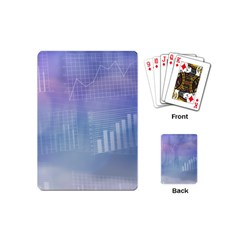 Business Background Blue Corporate Playing Cards (mini)