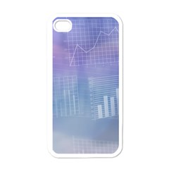 Business Background Blue Corporate Apple Iphone 4 Case (white)