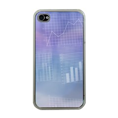Business Background Blue Corporate Apple iPhone 4 Case (Clear)