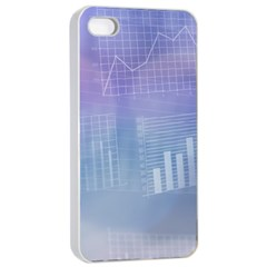Business Background Blue Corporate Apple Iphone 4/4s Seamless Case (white)