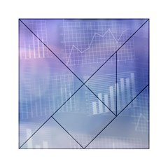 Business Background Blue Corporate Acrylic Tangram Puzzle (6  x 6 )