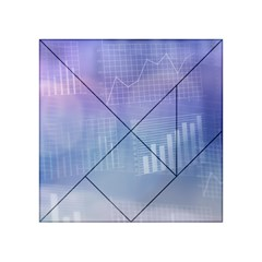 Business Background Blue Corporate Acrylic Tangram Puzzle (4  X 4 )