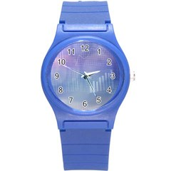 Business Background Blue Corporate Round Plastic Sport Watch (s)