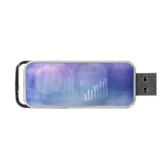 Business Background Blue Corporate Portable Usb Flash (one Side)