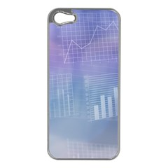 Business Background Blue Corporate Apple Iphone 5 Case (silver)