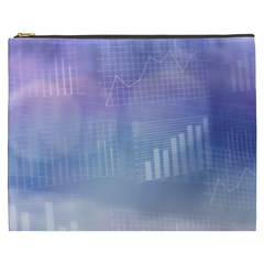 Business Background Blue Corporate Cosmetic Bag (xxxl)