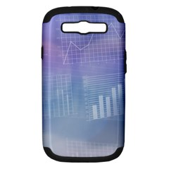 Business Background Blue Corporate Samsung Galaxy S Iii Hardshell Case (pc+silicone)