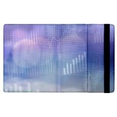 Business Background Blue Corporate Apple iPad 2 Flip Case