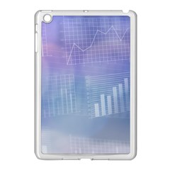 Business Background Blue Corporate Apple Ipad Mini Case (white)