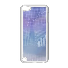 Business Background Blue Corporate Apple iPod Touch 5 Case (White)
