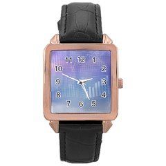 Business Background Blue Corporate Rose Gold Leather Watch