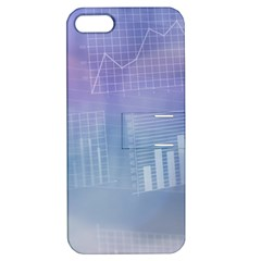Business Background Blue Corporate Apple Iphone 5 Hardshell Case With Stand