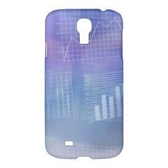 Business Background Blue Corporate Samsung Galaxy S4 I9500/i9505 Hardshell Case