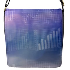Business Background Blue Corporate Flap Messenger Bag (S)