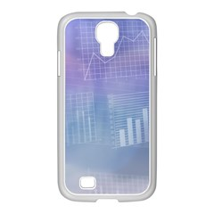 Business Background Blue Corporate Samsung Galaxy S4 I9500/ I9505 Case (white)