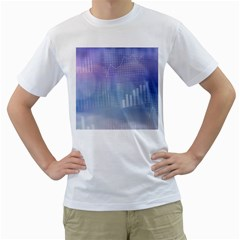 Business Background Blue Corporate Men s T Shirt (white)