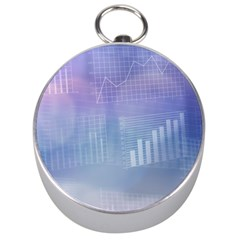 Business Background Blue Corporate Silver Compasses
