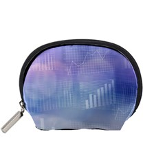 Business Background Blue Corporate Accessory Pouches (small)