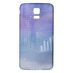 Business Background Blue Corporate Samsung Galaxy S5 Back Case (white)