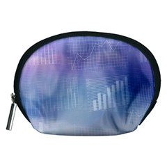 Business Background Blue Corporate Accessory Pouches (Medium)