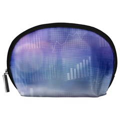 Business Background Blue Corporate Accessory Pouches (large)
