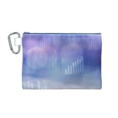 Business Background Blue Corporate Canvas Cosmetic Bag (m)