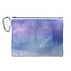Business Background Blue Corporate Canvas Cosmetic Bag (l)