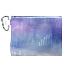 Business Background Blue Corporate Canvas Cosmetic Bag (xl)
