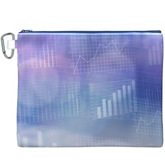 Business Background Blue Corporate Canvas Cosmetic Bag (XXXL)