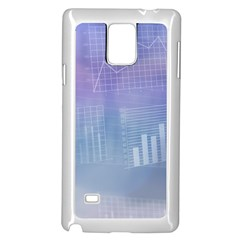 Business Background Blue Corporate Samsung Galaxy Note 4 Case (white)