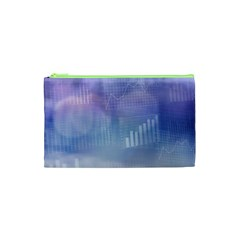 Business Background Blue Corporate Cosmetic Bag (xs)