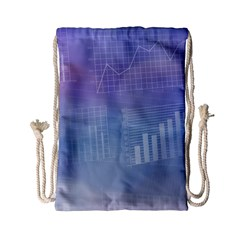 Business Background Blue Corporate Drawstring Bag (Small)