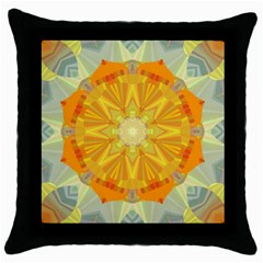 Sunshine Sunny Sun Abstract Yellow Throw Pillow Case (Black)