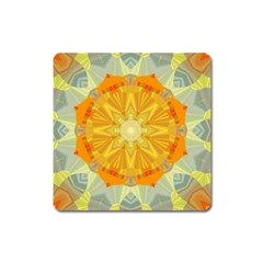 Sunshine Sunny Sun Abstract Yellow Square Magnet