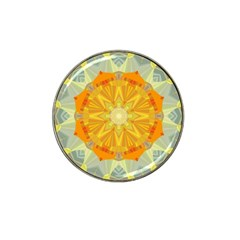 Sunshine Sunny Sun Abstract Yellow Hat Clip Ball Marker (10 Pack)