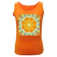 Sunshine Sunny Sun Abstract Yellow Women s Dark Tank Top