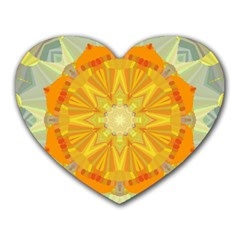 Sunshine Sunny Sun Abstract Yellow Heart Mousepads