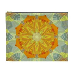 Sunshine Sunny Sun Abstract Yellow Cosmetic Bag (XL)