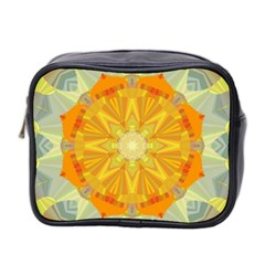 Sunshine Sunny Sun Abstract Yellow Mini Toiletries Bag 2-Side