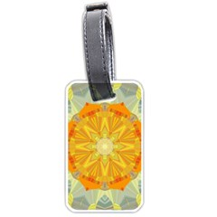 Sunshine Sunny Sun Abstract Yellow Luggage Tags (One Side)
